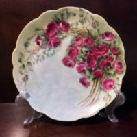 Bavarian China Plate - Hand Painted Roses- Artist Signed - 1898-1923 - Roses That Will Last Forever!