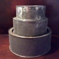 Tin Cake Pan Set - Three Tier Wedding - Anniversary - Birthday - Cake