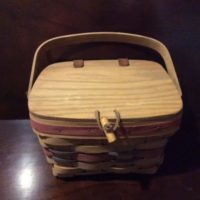 Longaberger Basket - Handbag - Pocketbook - Covered Berry Picking Basket - Attractive Storage For Any Room - 1988