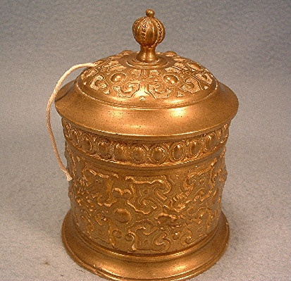 Ornate Brass String Holder - Antique Victorian - Made In Germany