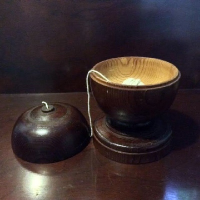 Turned Treen String Holder - Great Restoration / Country Store Wooden String Holder - Treenware Collection