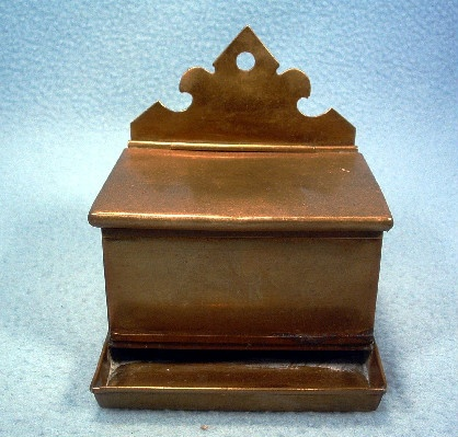 Brass - Wall Mounted Match Holder - Marked L.&C. N.Y. - Antique Hand Crafted