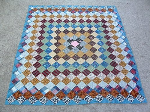 """""""Grandmother's Dream"""" Pattern Quilt Top - Hand Pieced/Hand Sewn - 86"""" by 76"""" - Vintage-1940s - #2"""