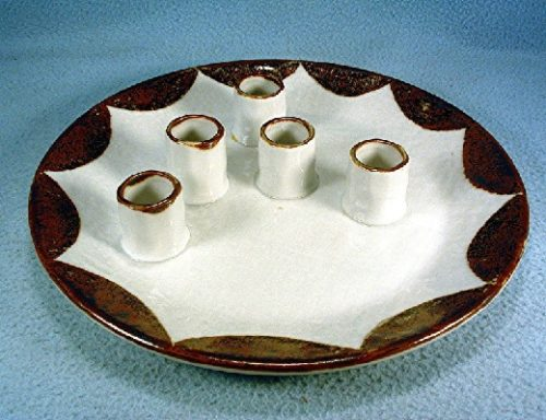 Otagiri Original Pottery Candlestick Plate - Hand Crafted - Hand Glazed - Vintage Mid 20th Century Modern