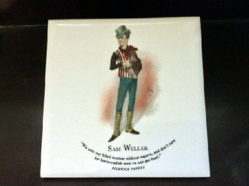 Sam Weller - Pickwick Papers - Dickens Character Tiles