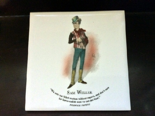 Sam Weller Pickwick Papers Ens Character Tiles