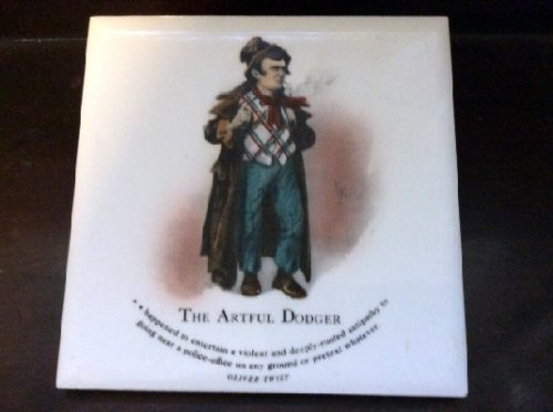 The Artful Dodger - Oliver Twist - Dickens Character Tiles
