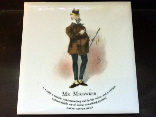 Mr. Micawber - David Copperfield - Dickens Character Tiles