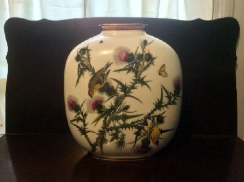 Large John James Audubon Birds of America Goldfinch Pillow Vase - Rosenthal China #32 of 3584