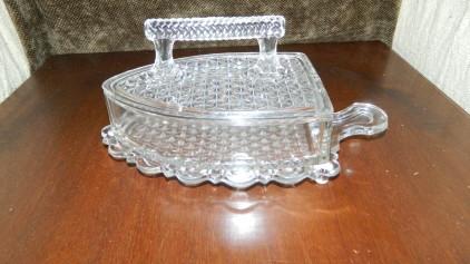 EAPG Flat Iron Butter Dish